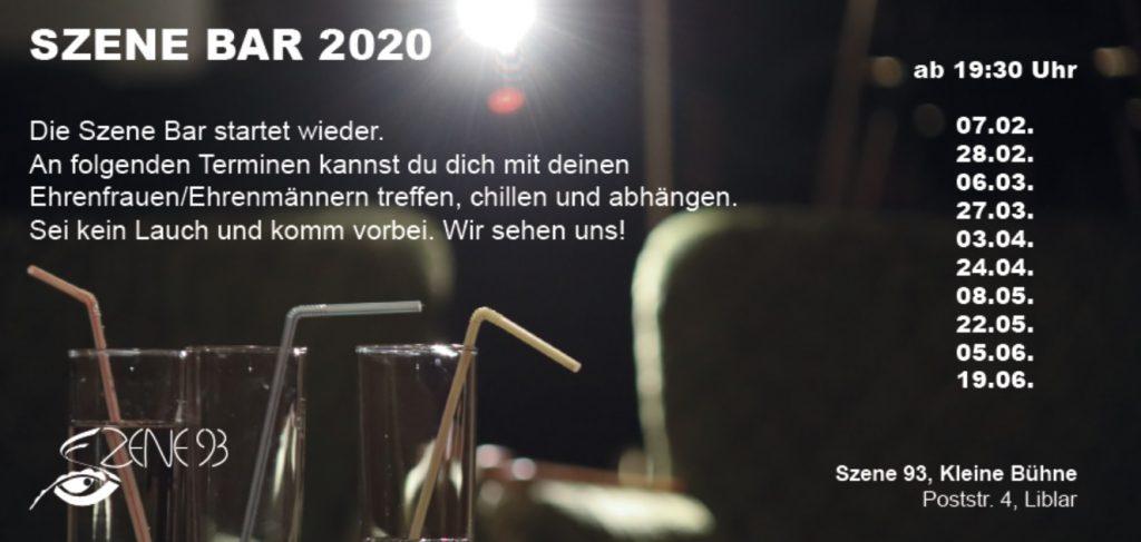 Szene Bar – Jugendtreff 2020